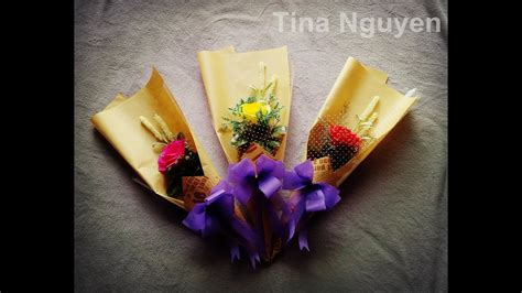 how to make flower bouquet with single