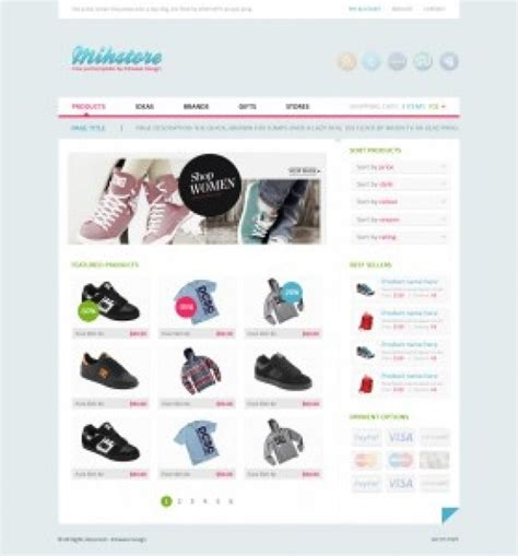 Simple Clothes Store Shop Template Psd File Free Download Template Shop Free