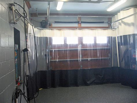 garage divider curtain heat sealed industrial curtains rf welded climate curtains