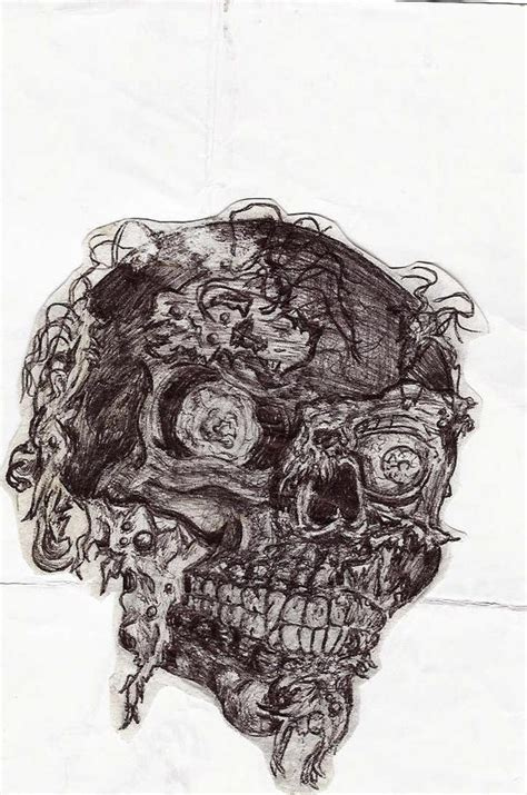 ink zombie skull thingie picture  sidwicked