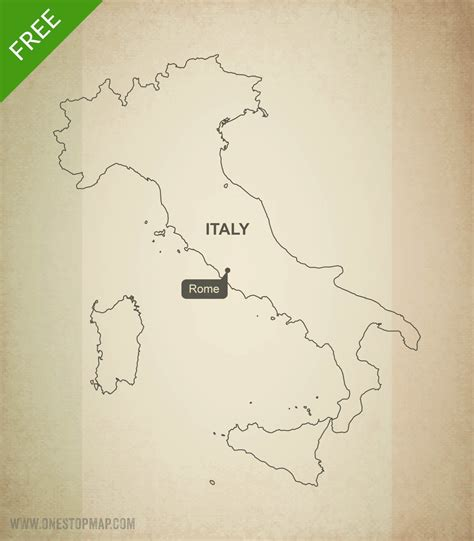 italy map outline printable free vector map of italy outline one stop map