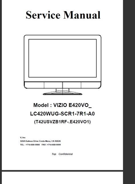 visio tv manual vizio tv service manuals images