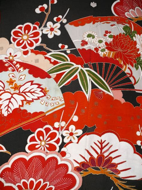 japanese wedding antique silk kimono  japanese