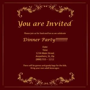 event invitation card template word free editable in ms word invitation template
