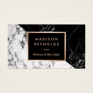 fashion business card templates free black and white business cards templates zazzle