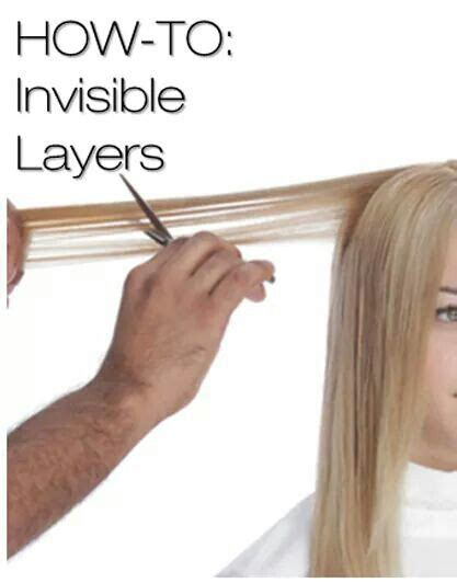 How To Cut Invisible Layers | how to cut invisible layers for fine hair hair pinterest