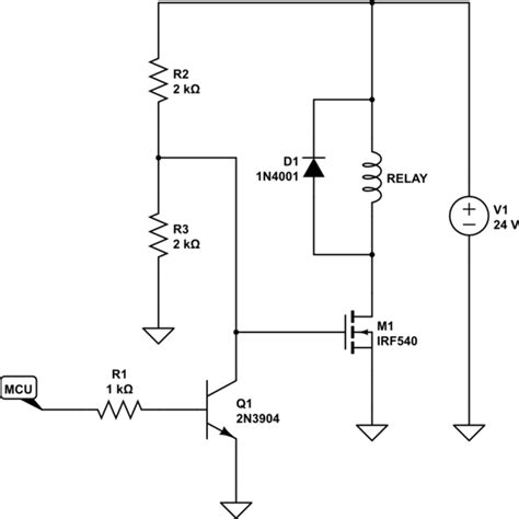 gate driver transistor need gate driver for mosfet irf540 and microcontroller electrical engineering stack exchange