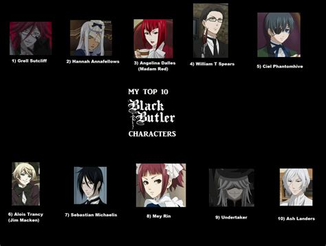 black butler list my top 10 black butler characters by cheshirecat2186 on