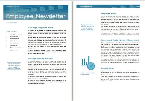 Ms Word Employee Newsletter Template Formal Word Templates Staff Newsletter Templates Free