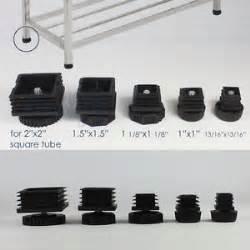 Used Bakers Rack Leveling Raised Leg Adjustable Plastic Insert Feet Square