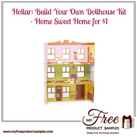 build your own doll house hollar build your own dollhouse kit home sweet home for 1 myfreeproductsles com