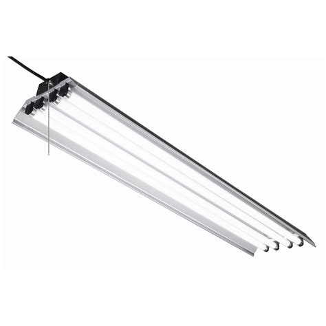 lowes fluorescent shop lights shop utilitech linear common 4 ft actual 48 5 in at