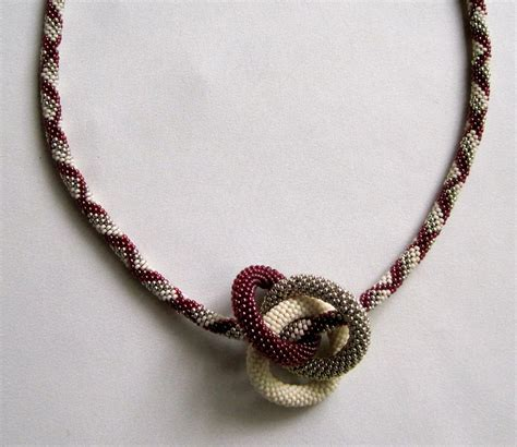 crochet bead necklace bead crochet necklace pattern infinity rings bead crocheted