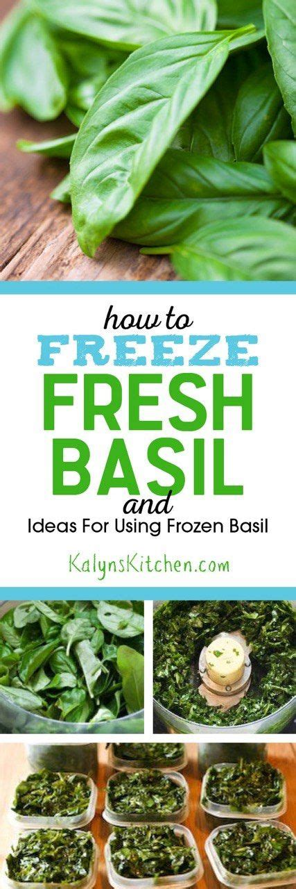 fresh basil freeze and basil on pinterest