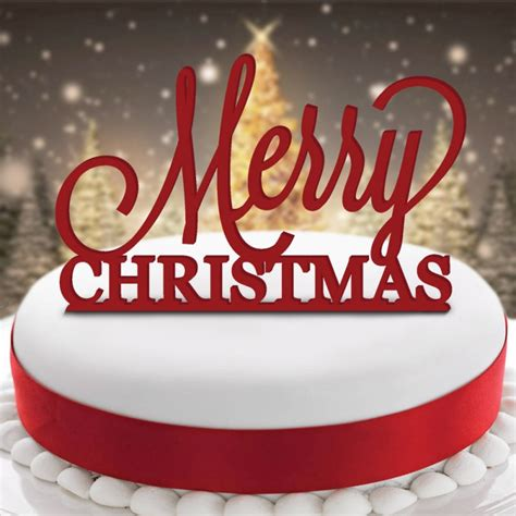acrylic cake topper merry christmas wholesale prices pudding xmas