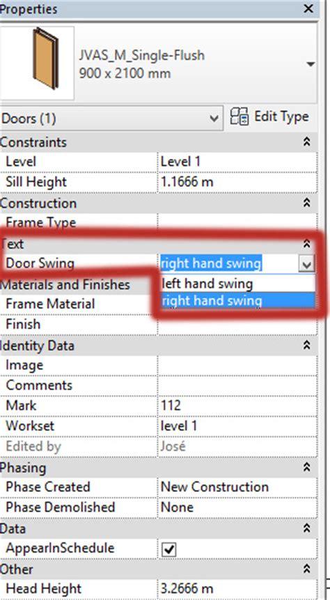 swing schedule door schedule door swing direction autodesk community
