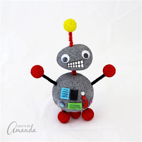 robot craft robot craft styrofoam pipe cleaners