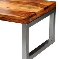 Coffee Table Solid Wood Vidaxl Co Uk Solid Sheesham Wood Coffee Table With Steel Leg