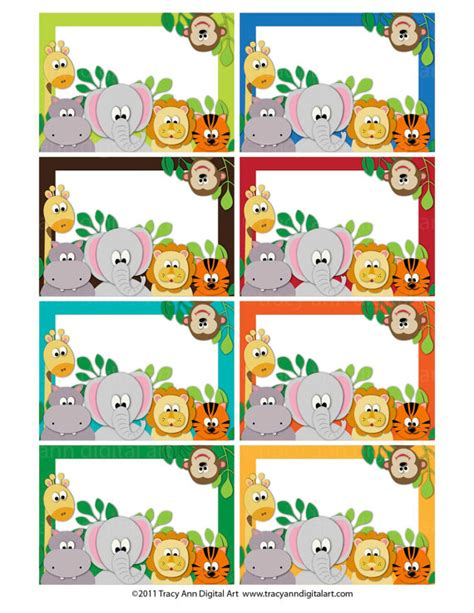 printable zoo animal name tags items similar to jungle animal zoo printable labels or