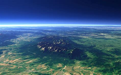 photography landscape nature aerial view earth blue