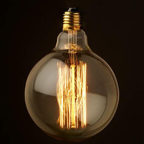 vintage edison light bulbs vintage edison spherical filament g125 e27