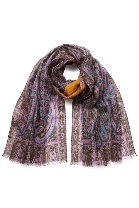 Ck Bandana 1403007 Motif Purple etro printed scarf purple in purple lyst