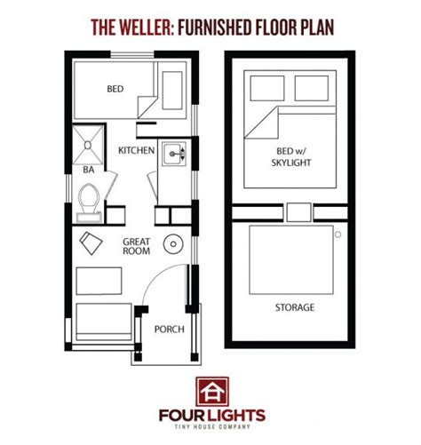 tiny home floorplans the weller tiny house 115 sq ft gabled cabin