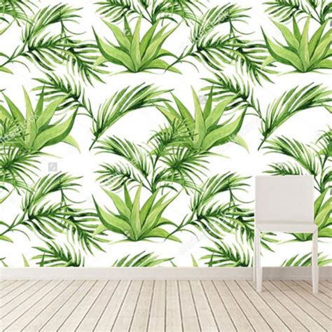 cheap green wallpaper uk popular leaf print wallpaper buy cheap leaf print