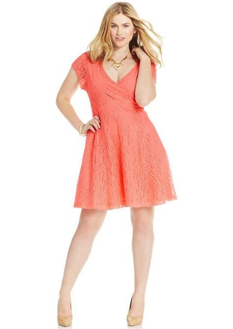 Jessiva Flowery Flare Mini Dress plus size kaitlee lace a