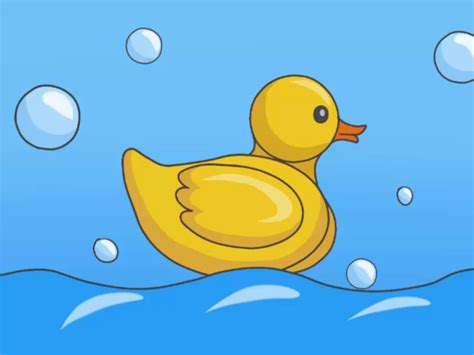 how to a duck how to draw a rubber duck 7 steps with pictures wikihow