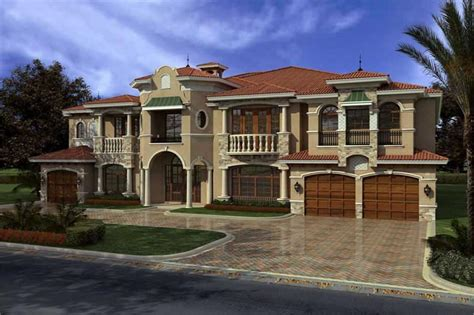 Floor Plans With Two Master Suites by Luxury Home With 7 Bdrms 7883 Sq Ft House Plan 107 1031