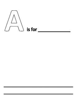 free printable alphabet book template simple alphabet book template k 5 simple alphabet book