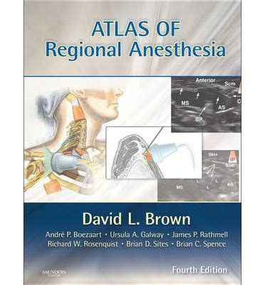 atlas of sonoanatomy for regional anesthesia and medicine books atlas of regional anesthesia david l brown 9781416063971