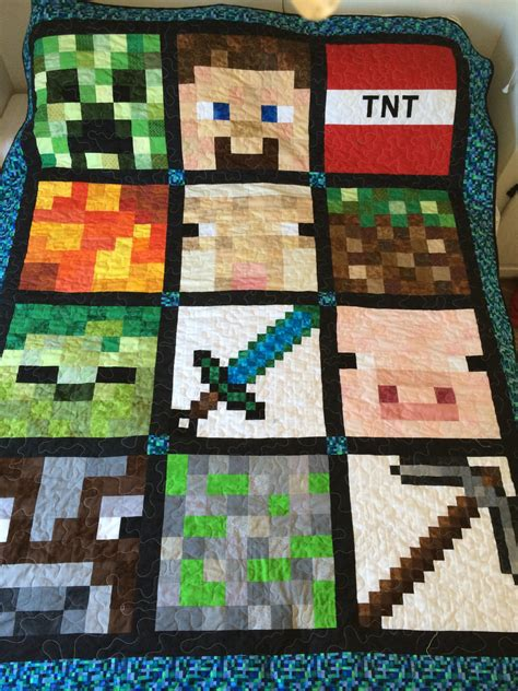 Quilting Forum by Minecraft Quilt Finally Finished