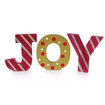 joy cut out letters christmas decoration