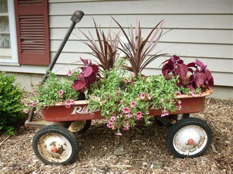 Wagon Planters wagon planter garden spaces wagon planter wagon and ideas