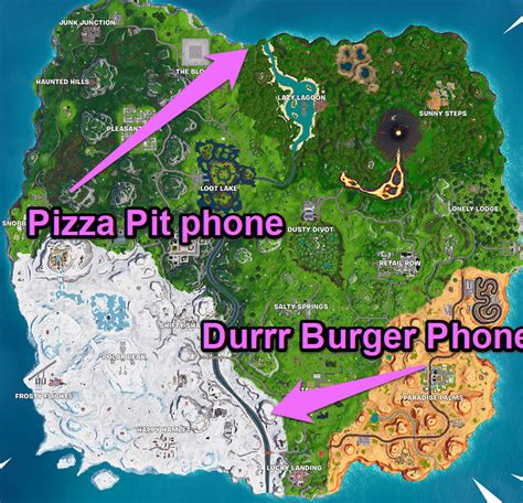 dial  durrr burger  pizza pit numbers fortnite
