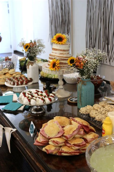 food ideas for afternoon wedding shower how to throw a rustic country bridal shower big s