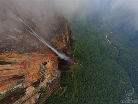 waterfall of the world s highest waterfall 360 176 aerial panoramas 360
