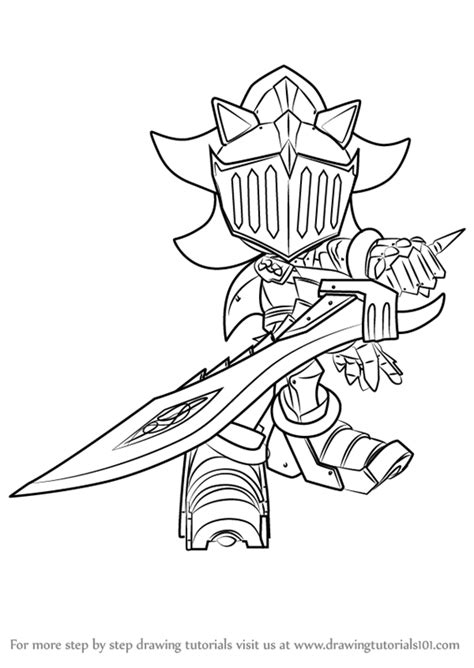 tutorial lancelot learn how to draw sir lancelot from sonic the hedgehog