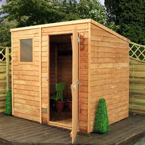 mercia    overlap pent wooden garden shed garden