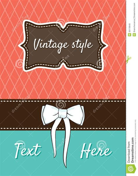 retro birthday card template retro greeting card template design stock photo image