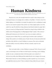 Act Of Kindness Essay by 3 Paragraph Essays On Kindness Essays Pgbari X Fc2
