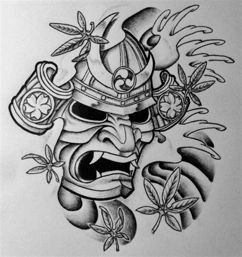 hannya mask tattoo design 25 best ideas about samurai mask on
