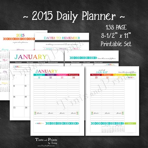 daily planner january 2015 happy 2015 printable daily planner calendar