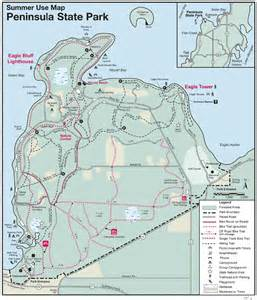 Peninsula State Park Map by Sailing In Green Bay Waters Fish Creek Sailing Door
