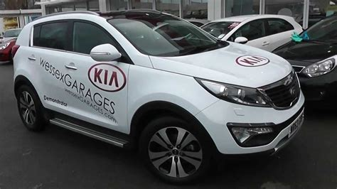 Wessex Kia Used Car Kia Sportage 3 Eco Nav White Wp63grf