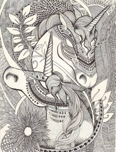 printable zentangle legend 266 best images about unicorns to color on pinterest
