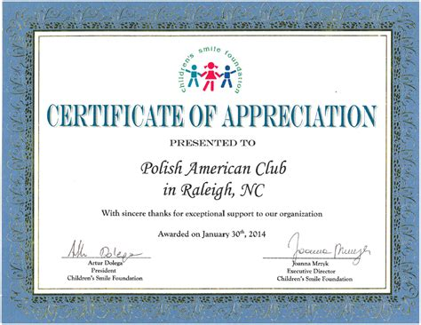 certificate of appreciation for donation template certificate of appreciation template donation images
