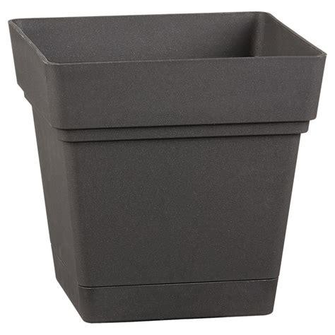 Square Planter Saucer by Deroma Square Planter Pot With Saucer 7 Quot Black